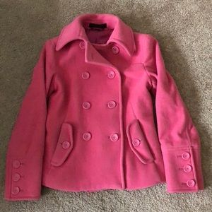 Express pink peacoat for breast cancer awareness